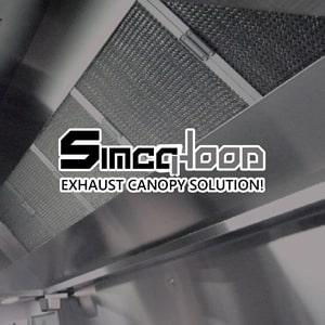 Exhaust hood canopies