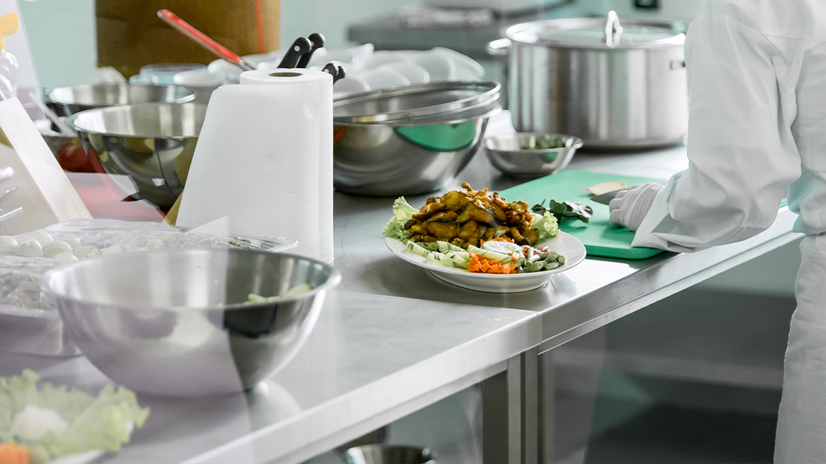 STAINLESS STEEL- A significant metal of the catering facility