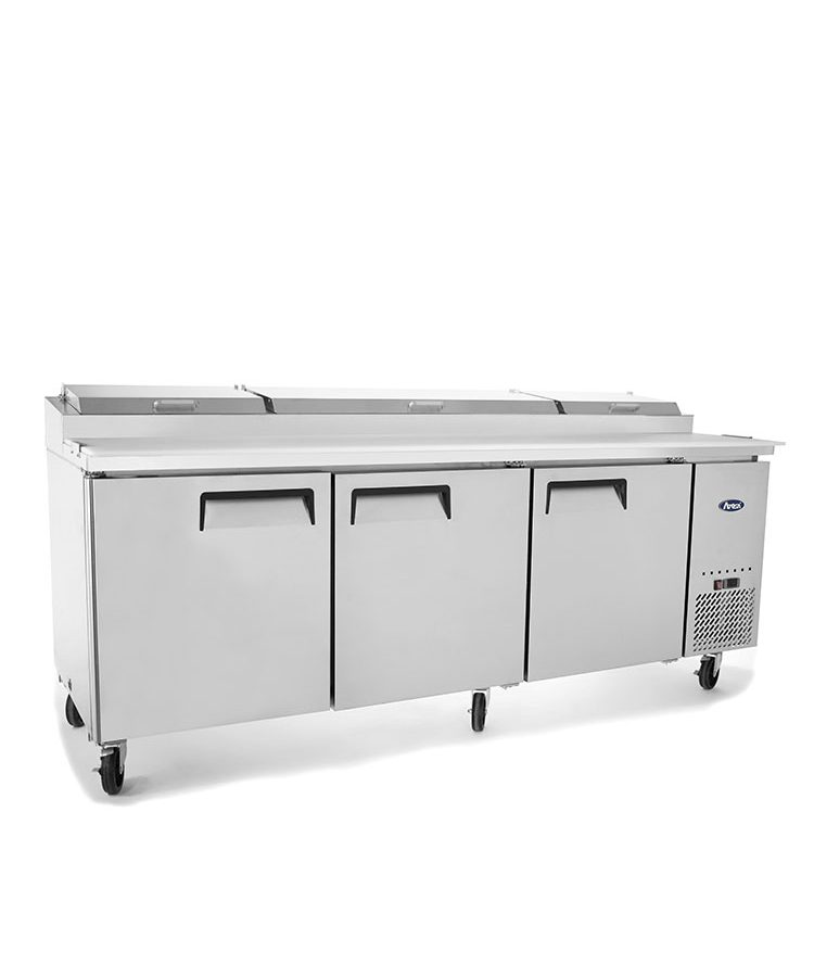 3 Door Pizza Prep Table Refrigerator 2362 mm