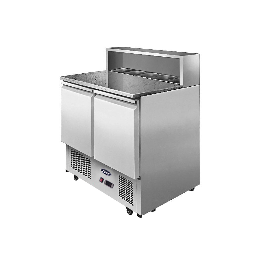 2 Doors Pizzatable Marble Top Saladette 900 mm