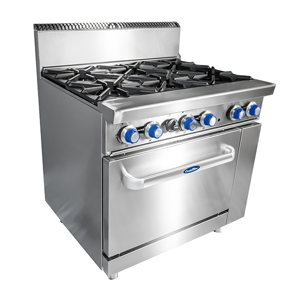 6 Burner with Oven W914 x D790 x H1165|COOKRITE