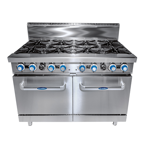 8 Burner with Oven W1219 x D790 x H1165|COOKRITE