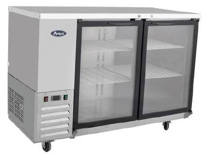 Refrigerated Back Bar Cooler with Glass Door 1220mm