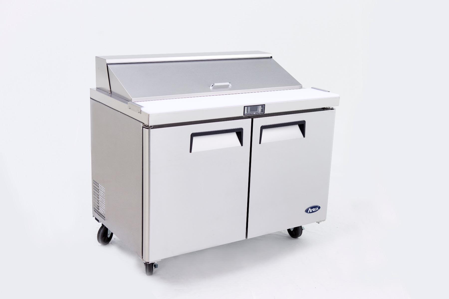 2 Door Sandwich Prep Table Refrigerator 1225 mm