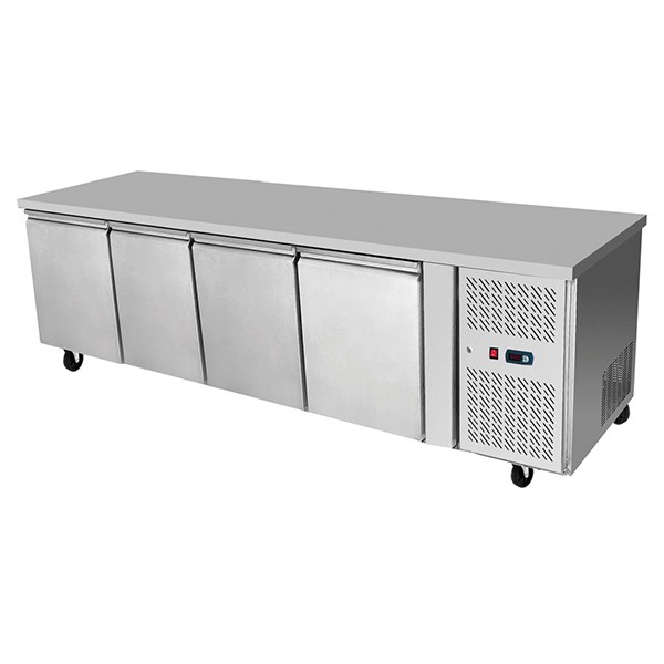 Underbench Four Door Freezer Table 2230 mm