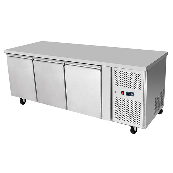 Underbench Three Door Freezer Table 1795 mm