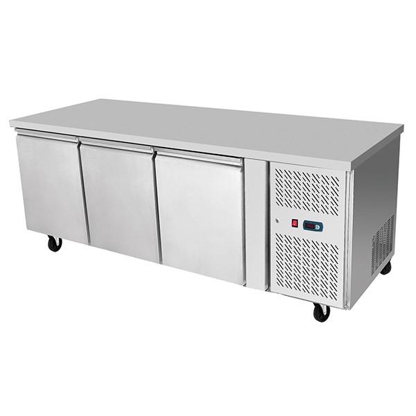 Underbench Three Door Freezer Table 1795 mm