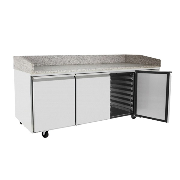 3 Door Refrigerated Pizza Table 2010 mm