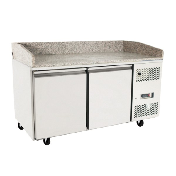 2 Door Refrigerated Pizza Table 1510 mm