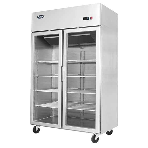Top Mounted 2 Door Fridge Showcase 1314 mm