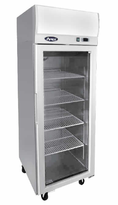 Top Mounted Single Door Glass Fridge